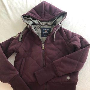 USPA quilted hoodie